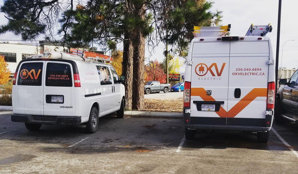 OKV vans in parking lot